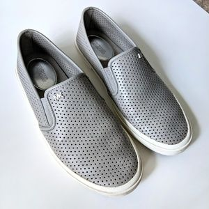 Micheal Kors Leather Grey Slip-on Sneakers Flats